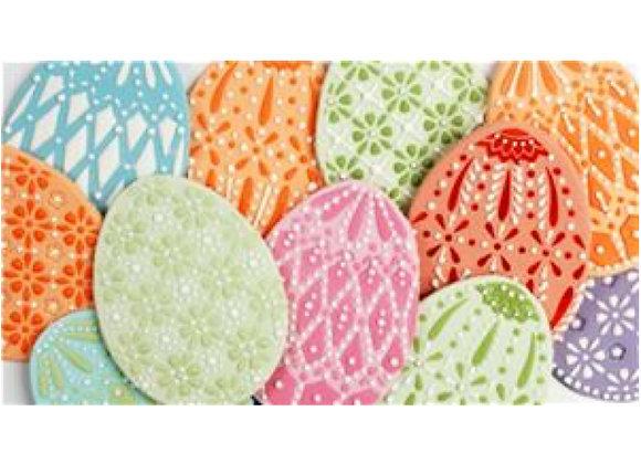 Faberge Easter egg cookie cake stencil set by Designer Stencils C865