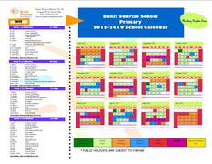 Primary 2018-2019 School Calendar
