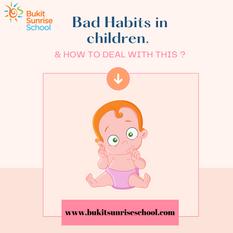 Bad Habits in Children That Parents Should Know
