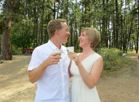 We had a surprise wedding!