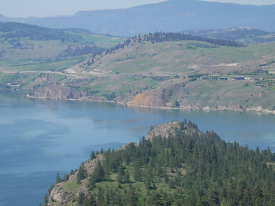 View of Kalamalka Lake from Kalamalka Provincial Park hiking trails in Vernon, B.C.