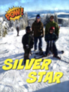 Photo of Jake Russell, Luke Russell, Justin Russell, and Kailen Russell at Silver Star Ski Resort, Vernon B.C.