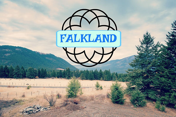 Photo of farmland in Falkland, BC