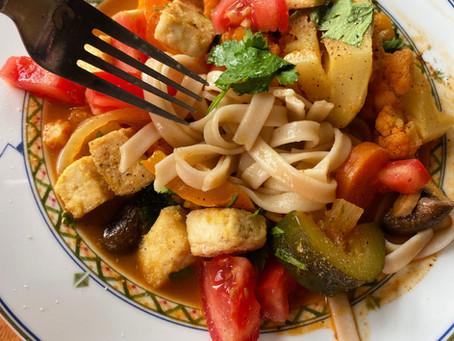 Veggie curry ramen