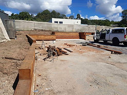 Timber retaining wall, looking south.jpg