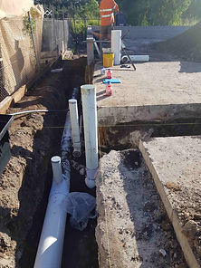 Drainage pipes for starm water and sulla
