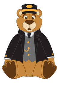 Plush Bear Conductor sitting
