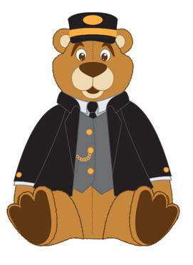 Plush Bear Conductor sitting
