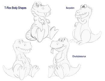 Dino Roar rough Trex sketches.JPG