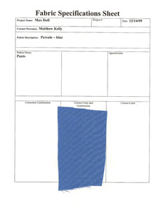 Max Swatch Sheet blue percale