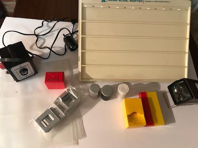 Vintage Slide Camera and Lightbox
