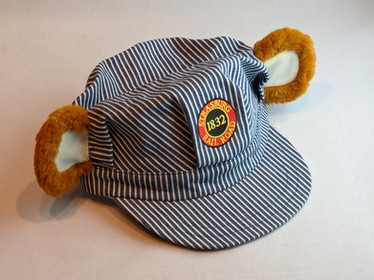 Stras Bear Child's Engineer Hat with ears