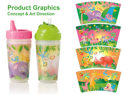 Childrens cups - product art