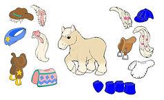 Preschool pony with english and western