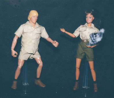 Crocodile Hunter Steve and Terri Irwin concept models - Warner Bros. Toys