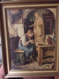 "Toby Rosenthal print ""My Madonna"" 1908"
