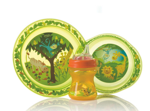 Zoo Friends Plate Bowl and Sippy Cup – Evenflo Feeding