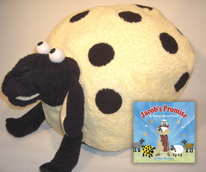 Custom storytelling plush - The Spotted Lamb