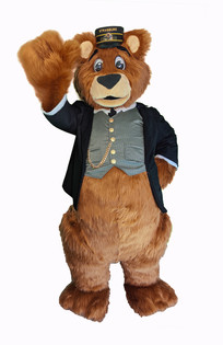 Stras Bear walk about costume - Strasburg Railroad mascot