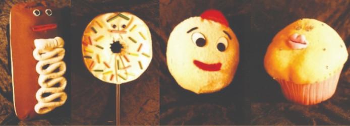 Yum-Yum Donuts TV puppets