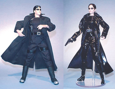 Matrix Neo and Trinity action figures - Warner Bros. Toys