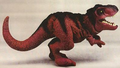 Jurassic Park T-Rex plush toy/puppet – Kenner Toys