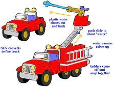 2D preschool vehicle design fire truck.j