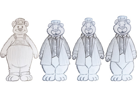 Male Bear proportion study