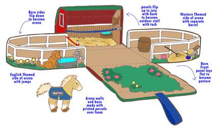 Breyer Soft Barn and Pony soft playset – Breyer