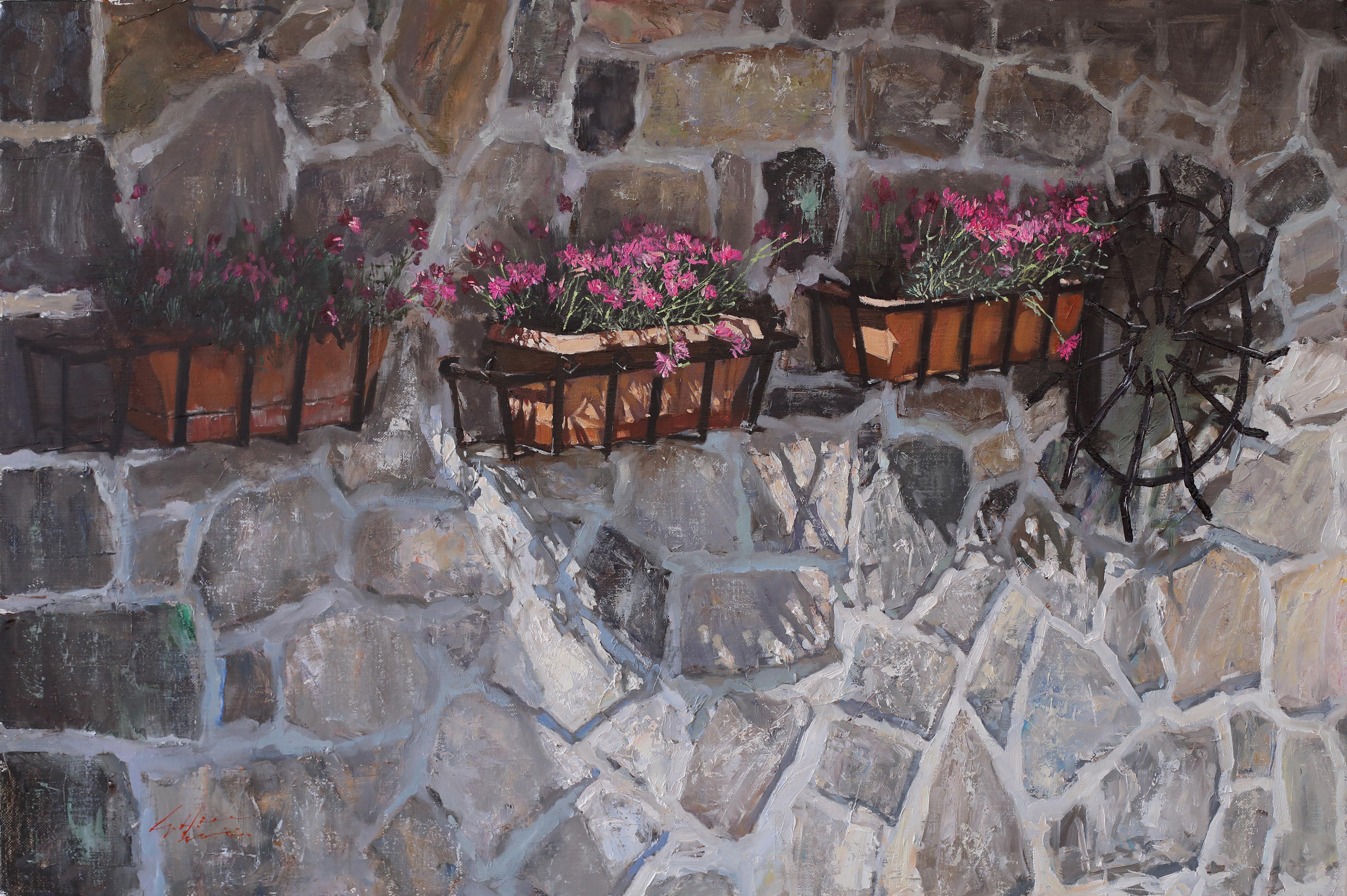 친퀘테레에서 90.9x60.6 Oil on canvas 2014
