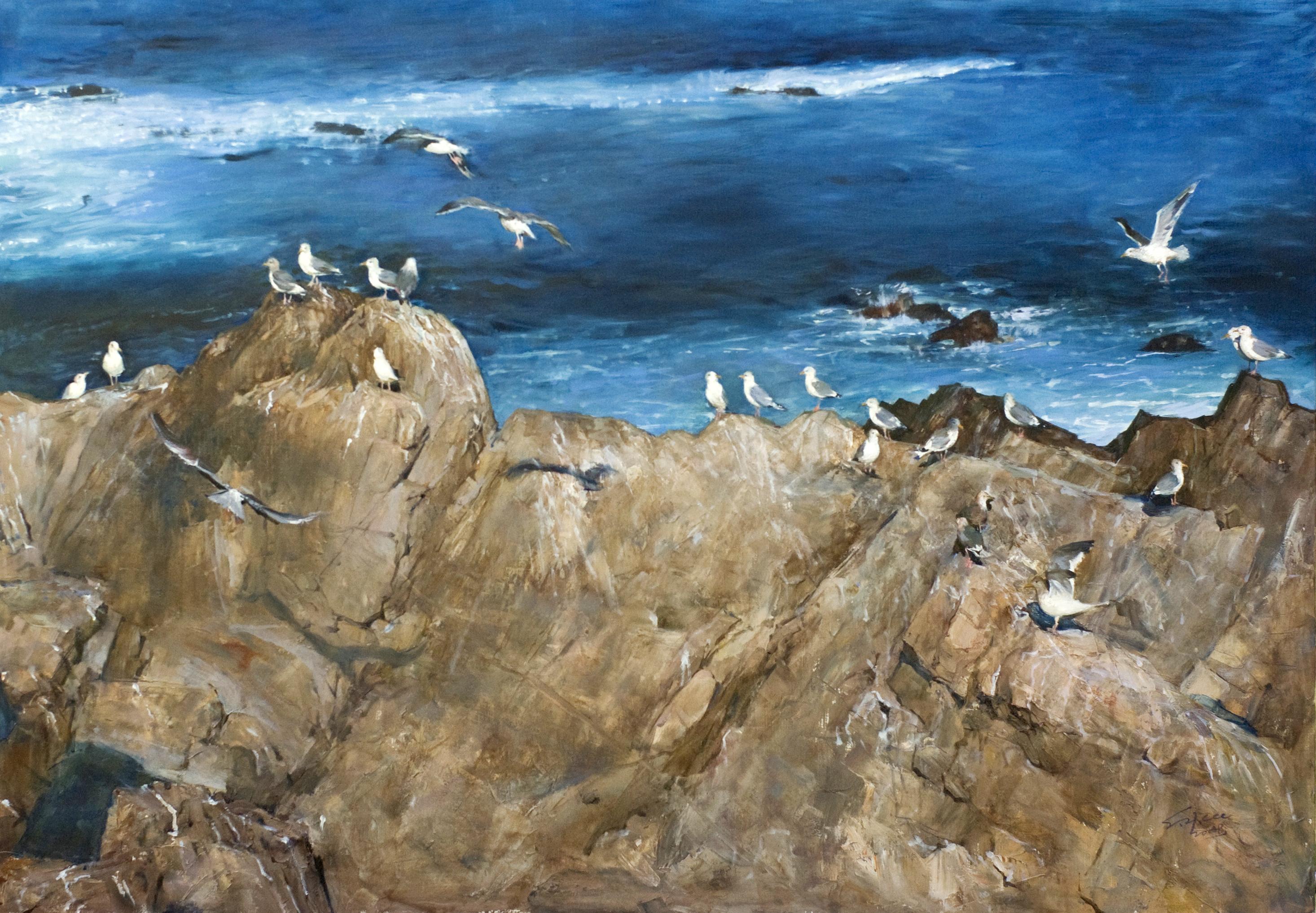 바다이야기 162.2 x112.1  Oil on canvas 2008