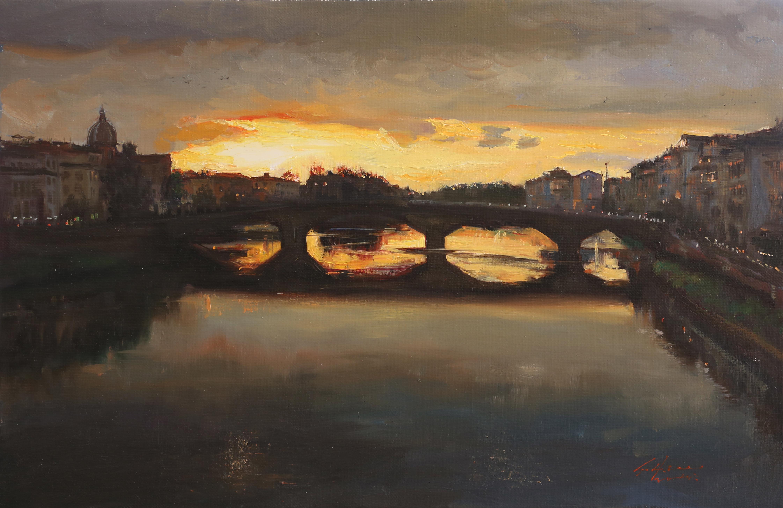 석양 45.5x30 Oil on canvas 2014
