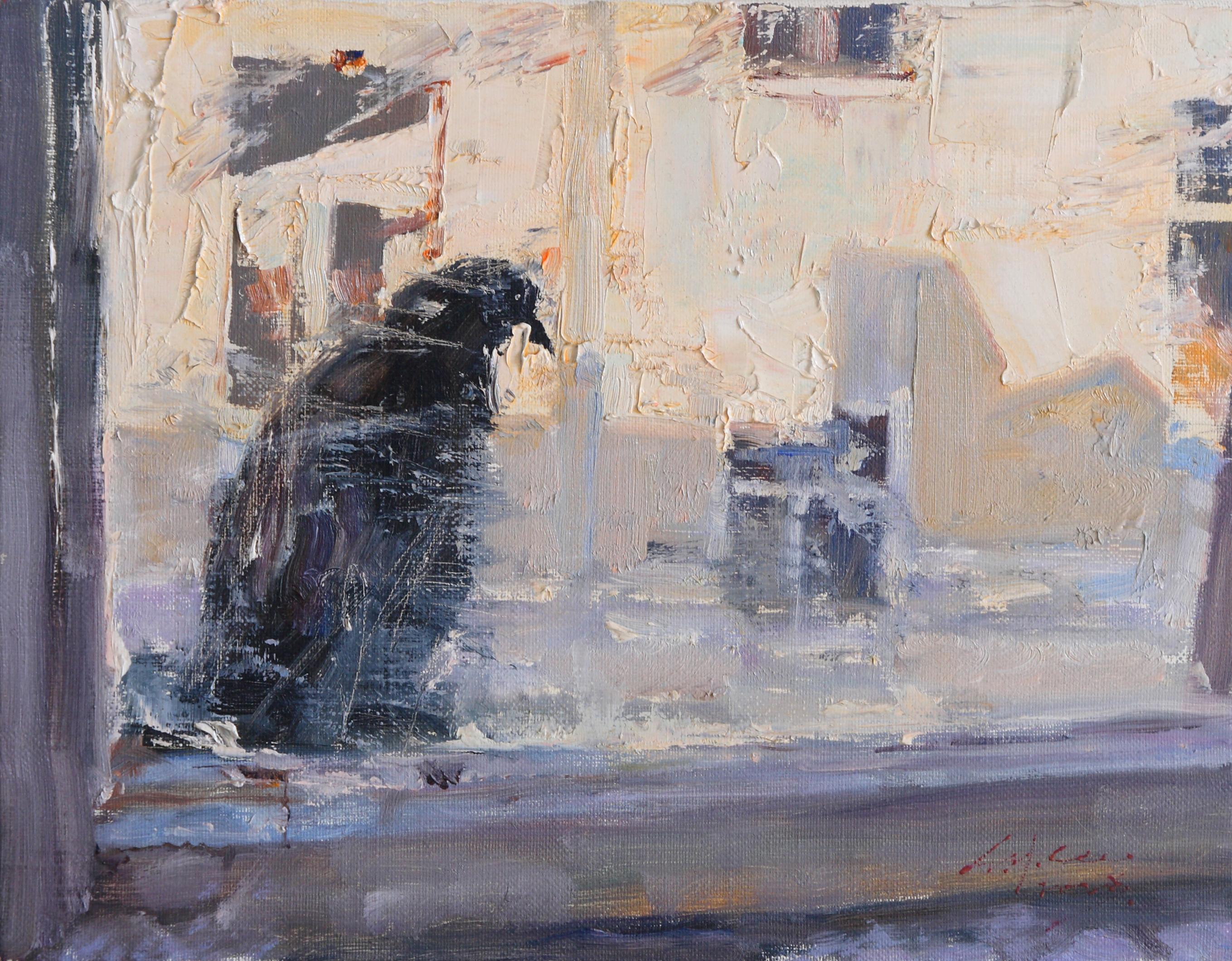 바론(까마귀) 34.8x27.3  Oil on canvas 2008