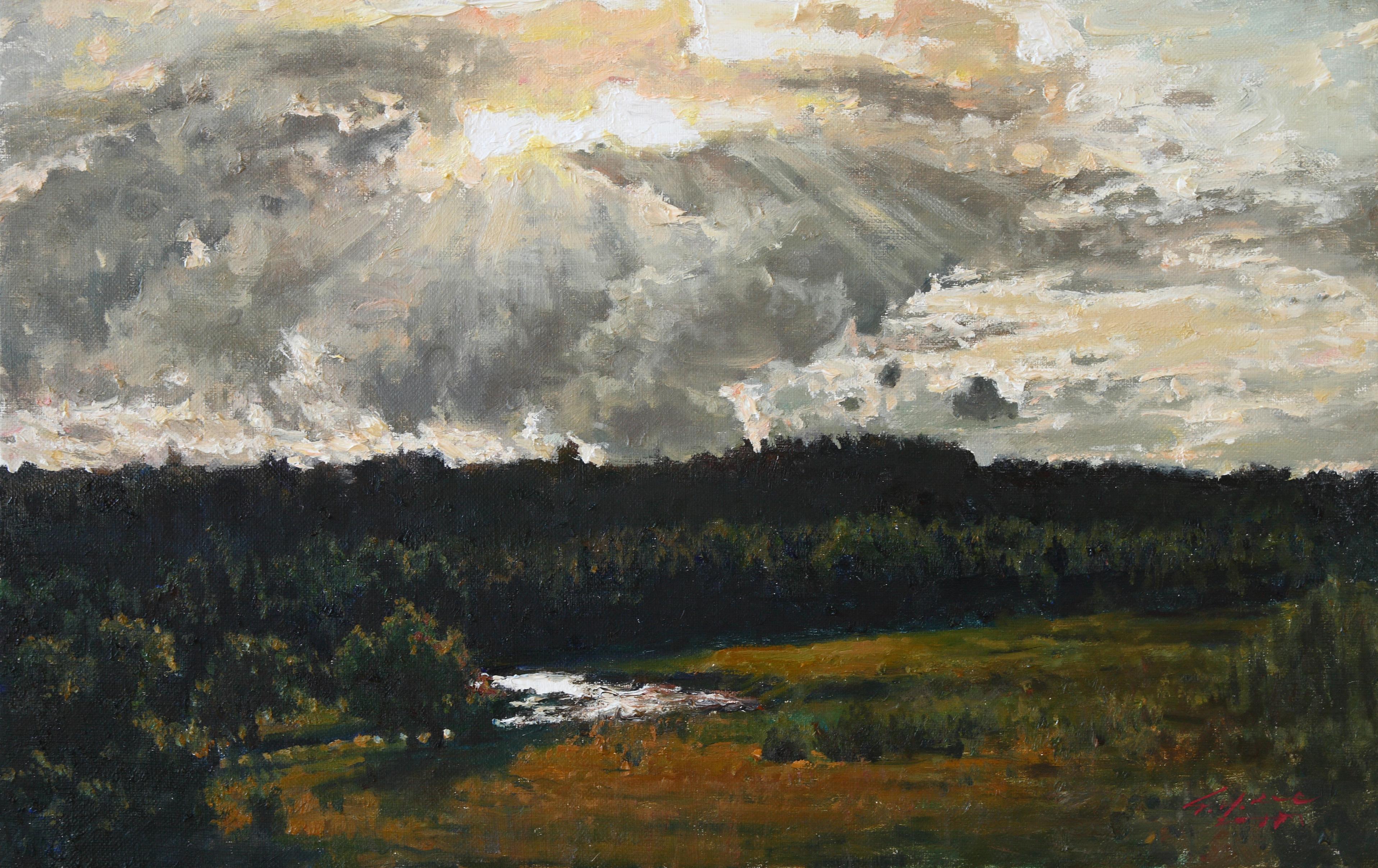 해가지는 언덕 53x33.4  Oil on canvas 2011