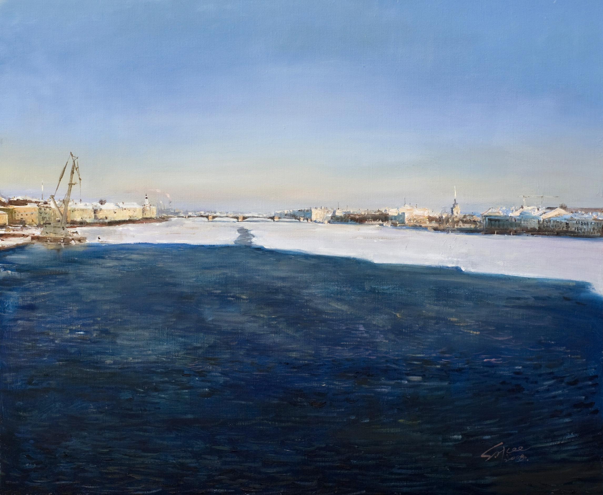 네바강 풍경 72.7x60.6  Oil on canvas 2007