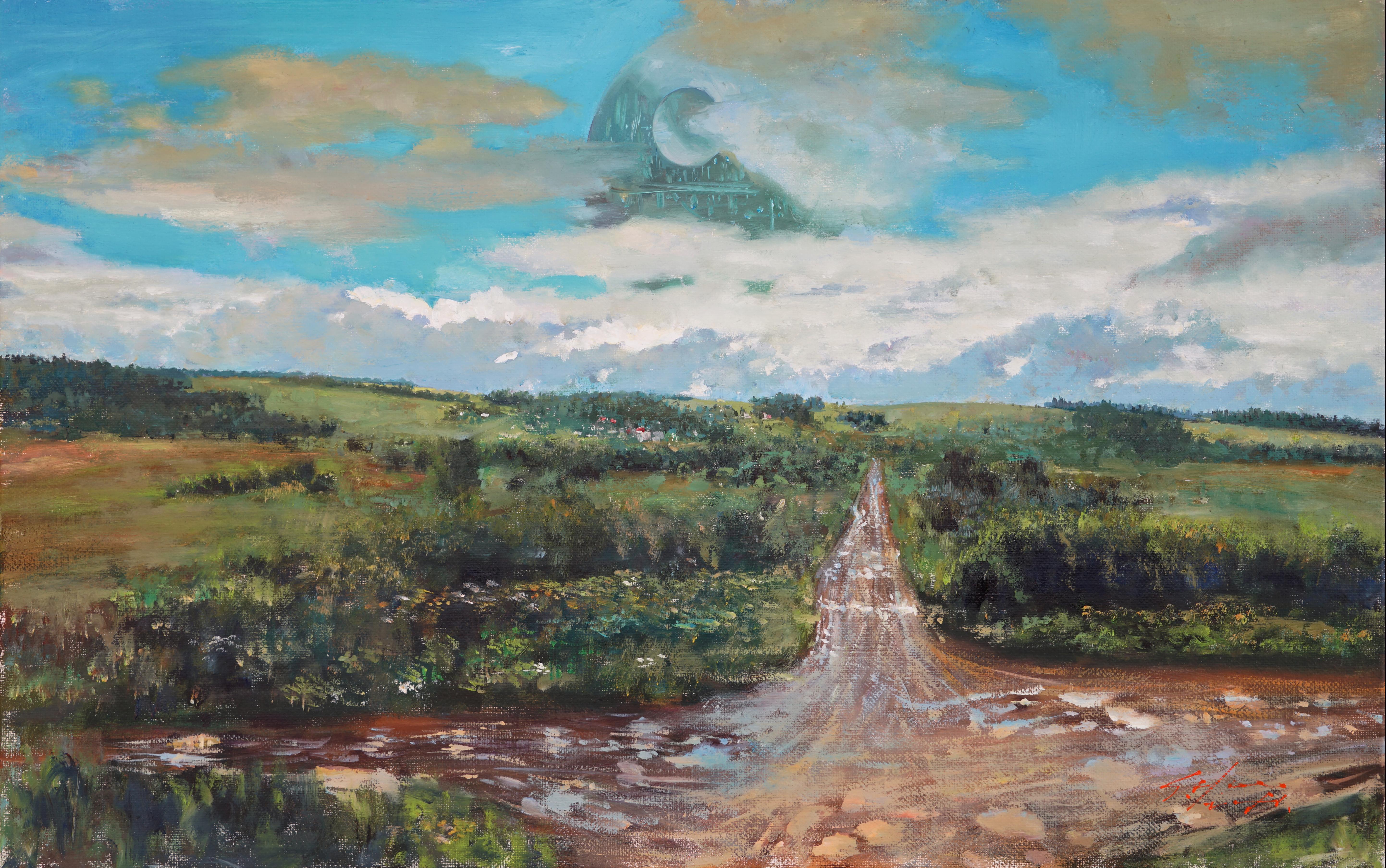 비 갠 하늘 53x33.4 Oil on canvas 2016