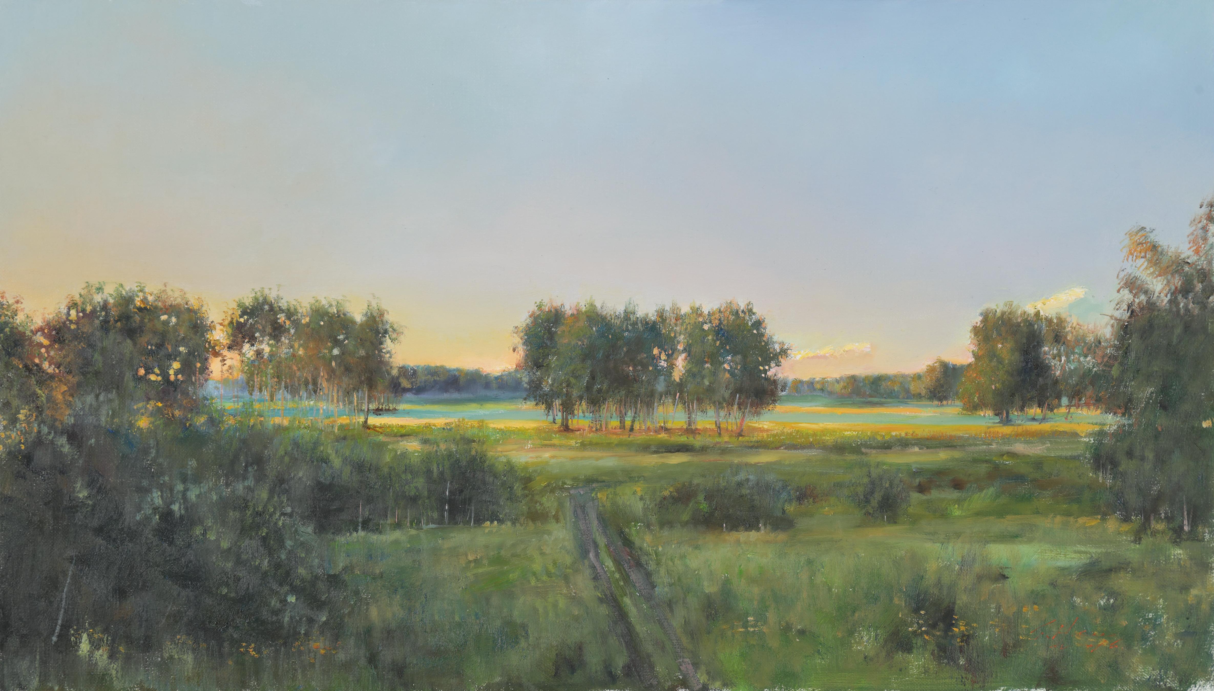25 오솔길이 있는 풍경 41.6x72.7 Oil on canvas 2016