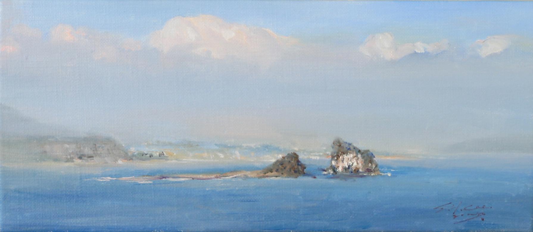 섬이 보이는 제주도 35x13  Oil on canvas 2008