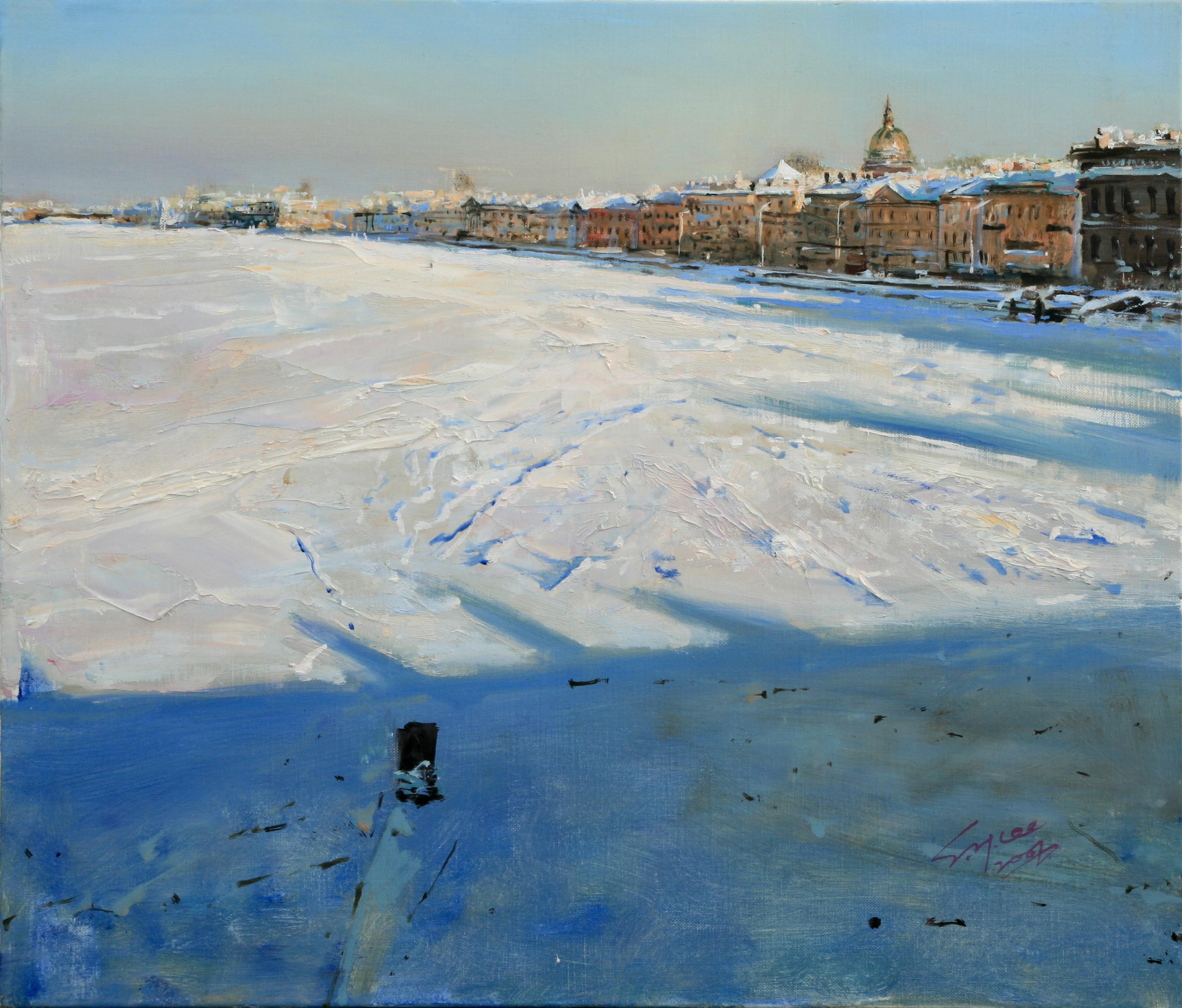 네바강 풍경 53x45.5  Oil on canvas 2007