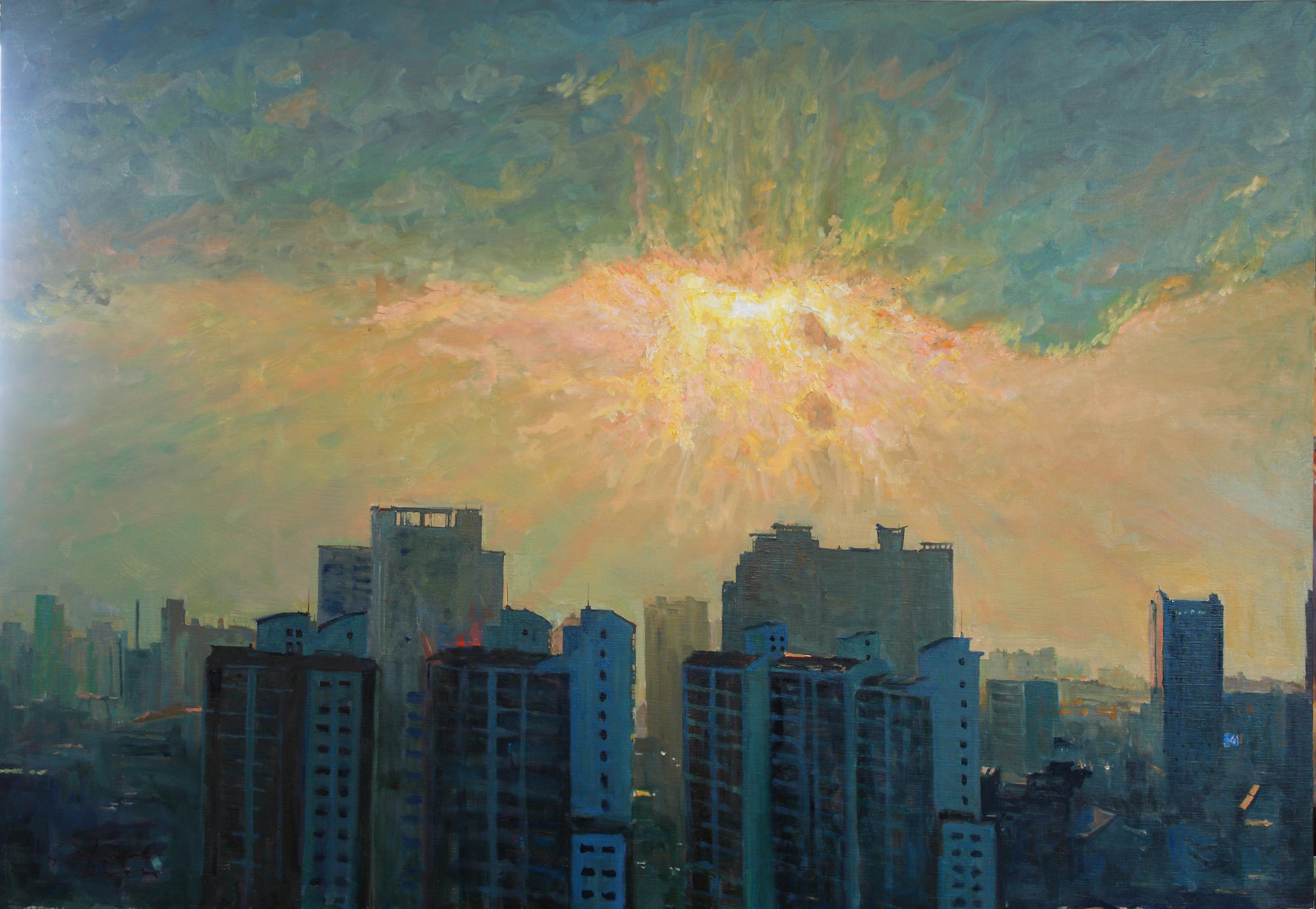 빛의 도시 162.2 x112.1  Oil on canvas 2010