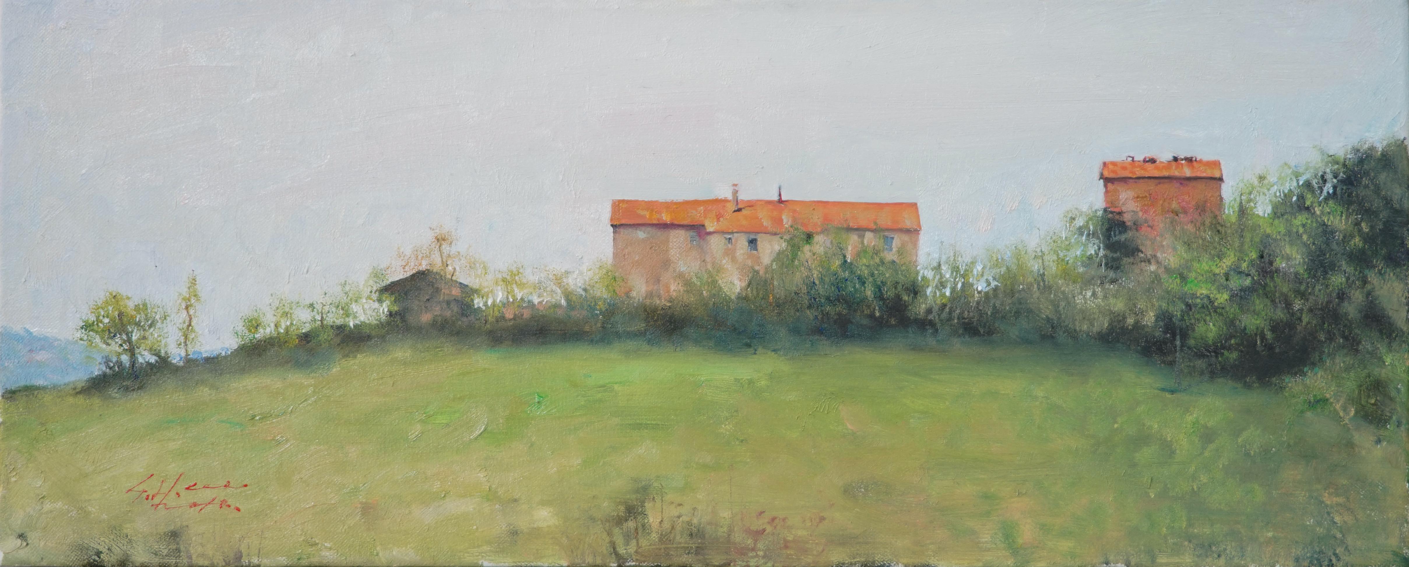 언덕위의 집34.8x14 Oil on canvas 2018