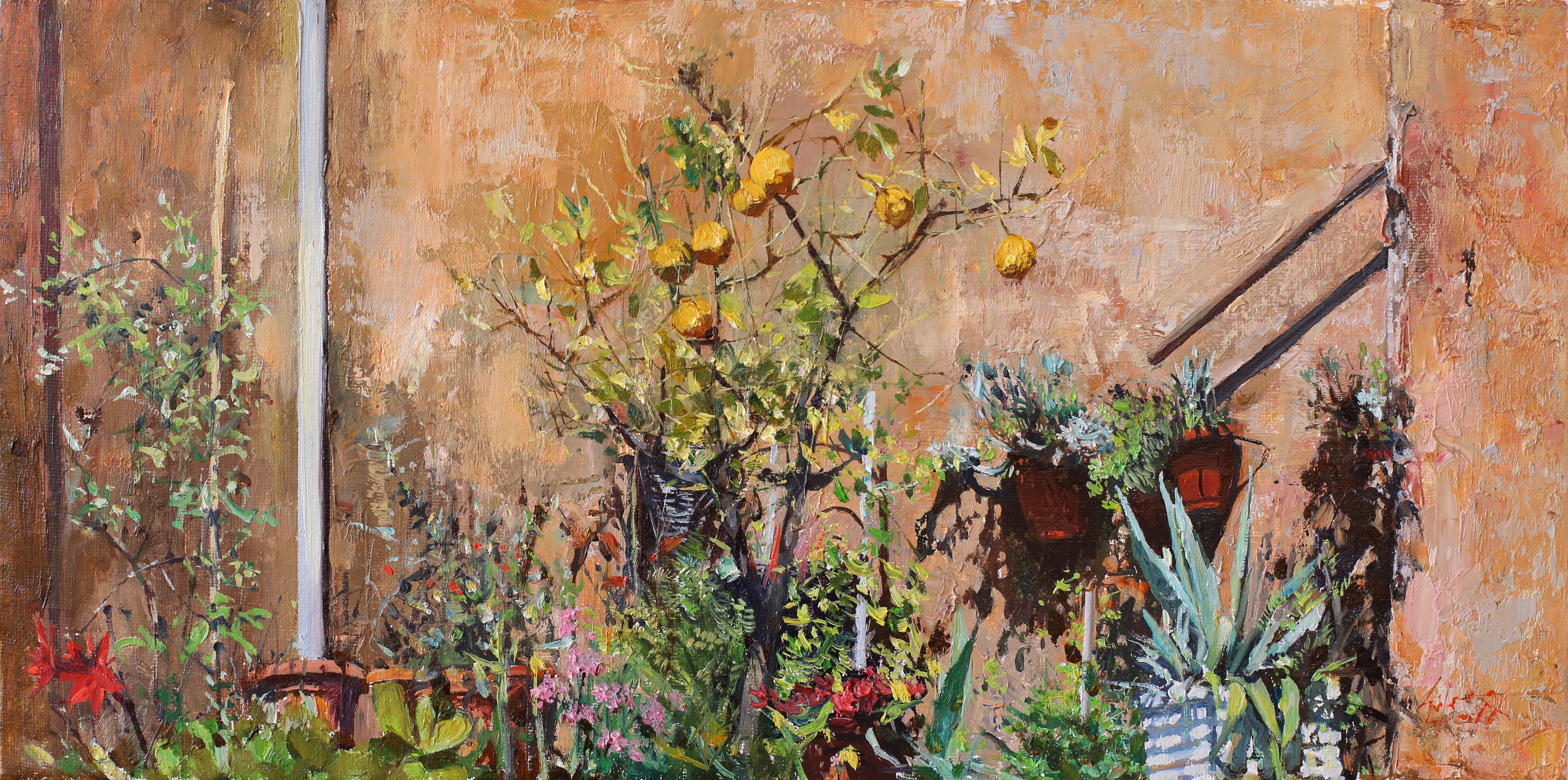 작은 정원 45.2x22.5 Oil on canvas 2014