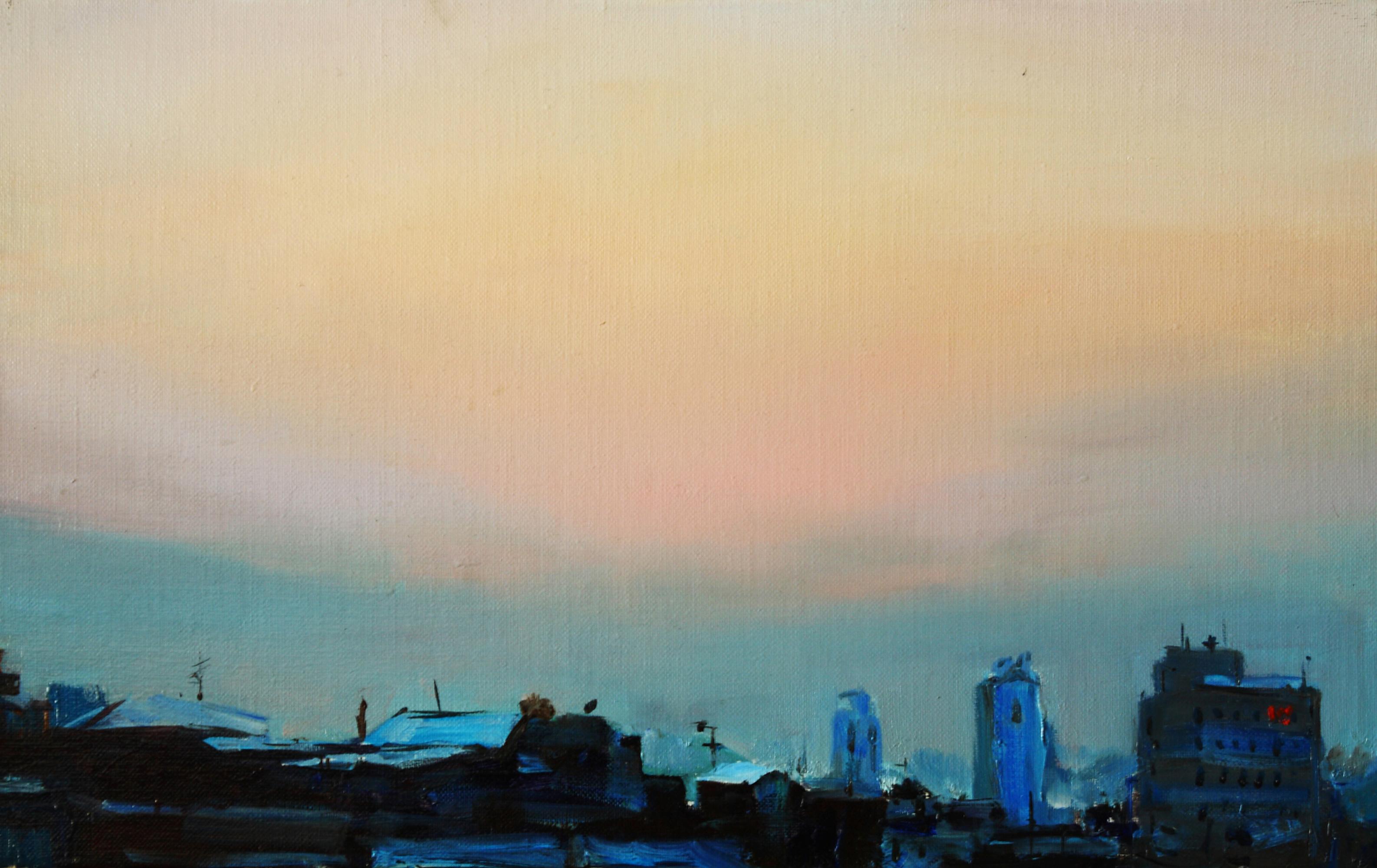 노을지는지붕 53 x33.4  Oil on canvas 2010