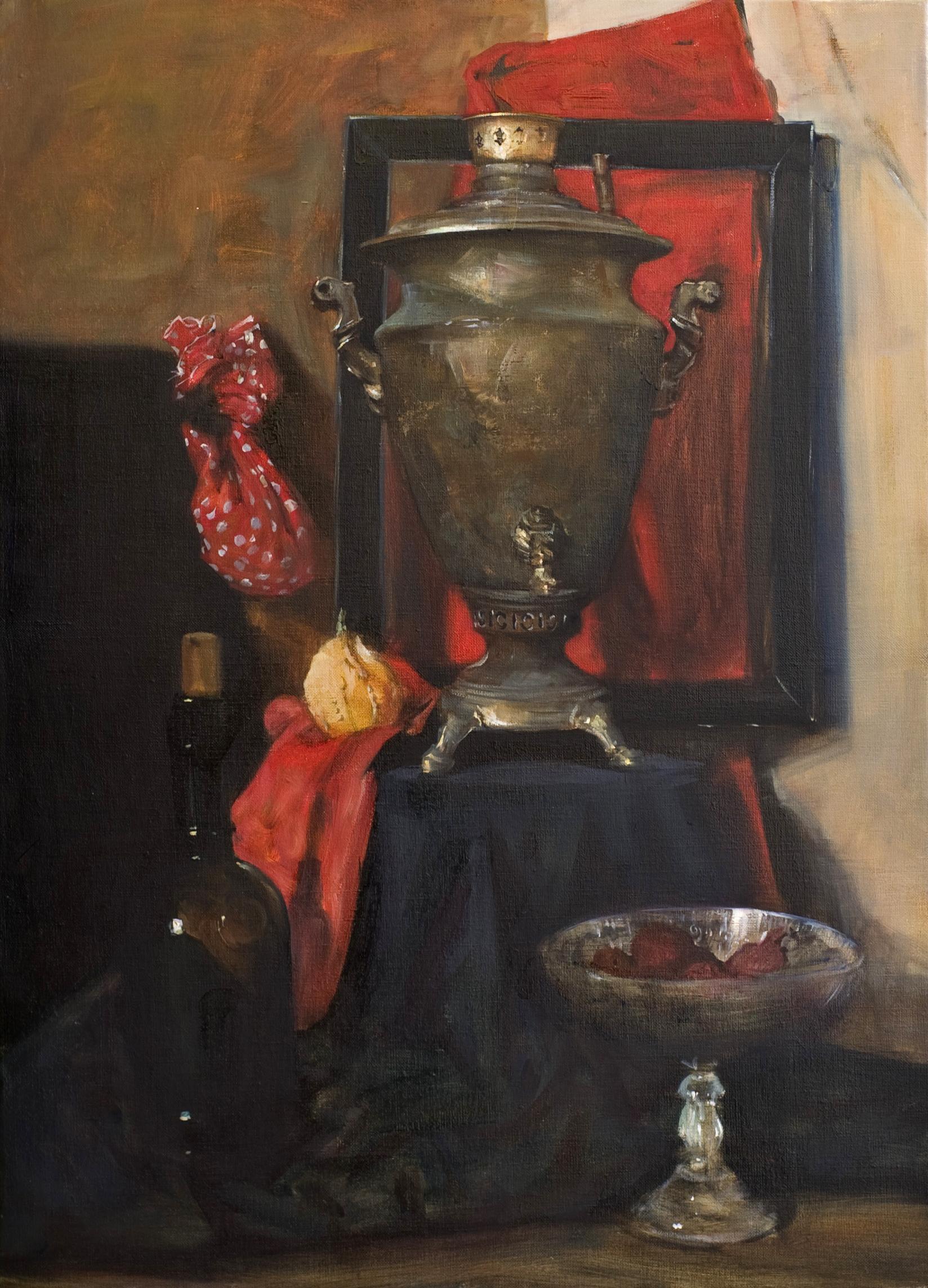사마바르가 있는 정물72.7x53 Oil on canvas 2007
