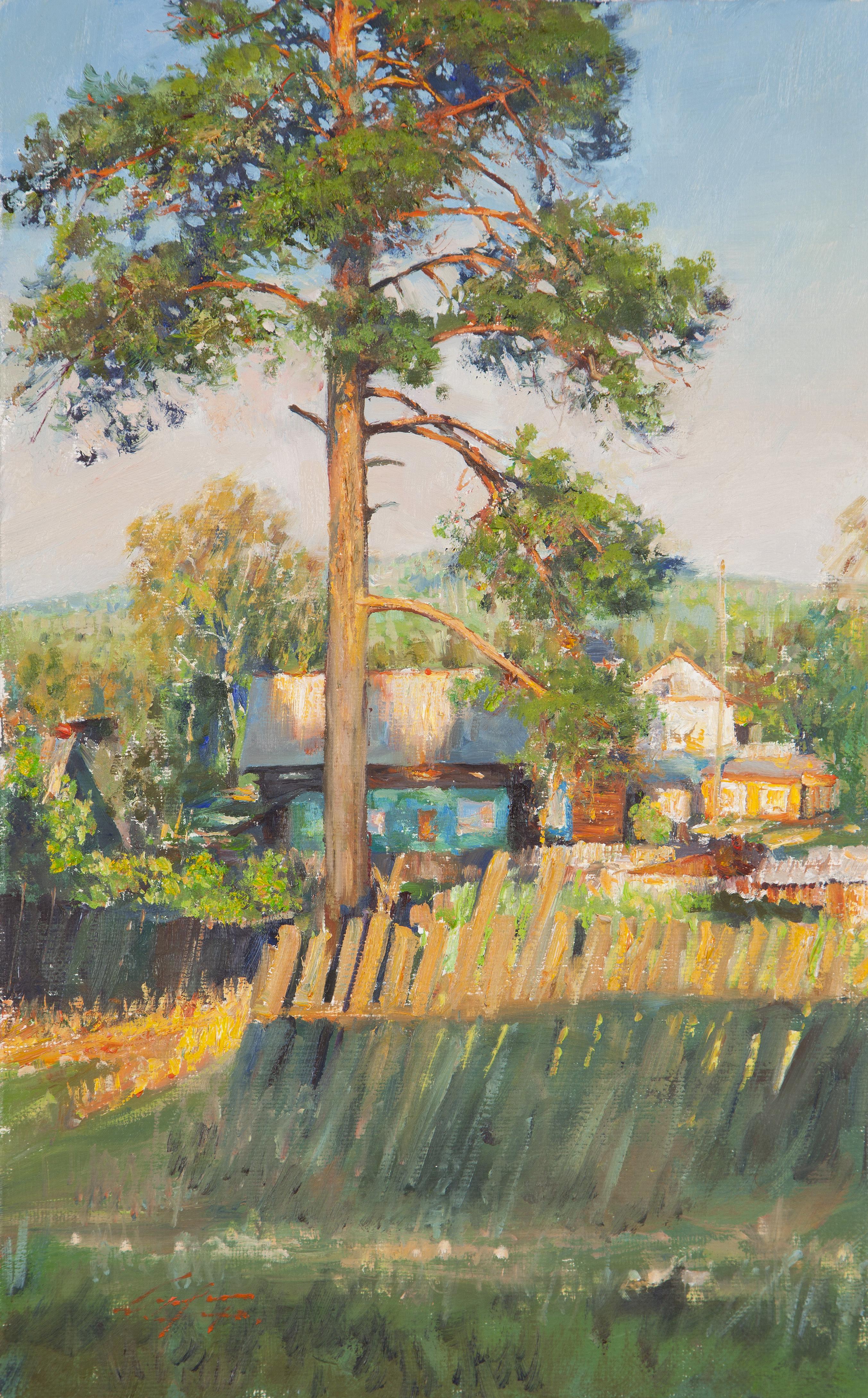 18 소나무가 있는 풍경 35x22 Oil on canvas 2016