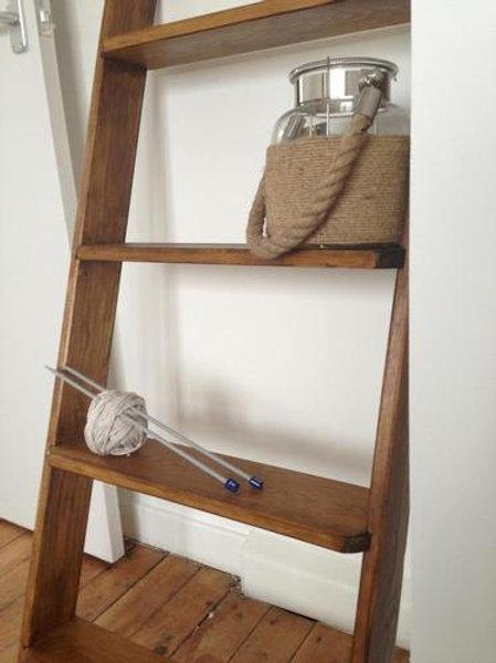 Wooden Ladder Like Shelf