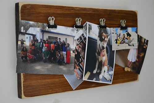 Reclaimed Wooden Clipboard Picture Frame