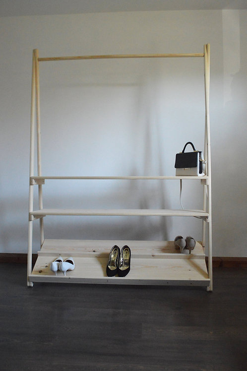 Clothes Rail with Three Shelves
