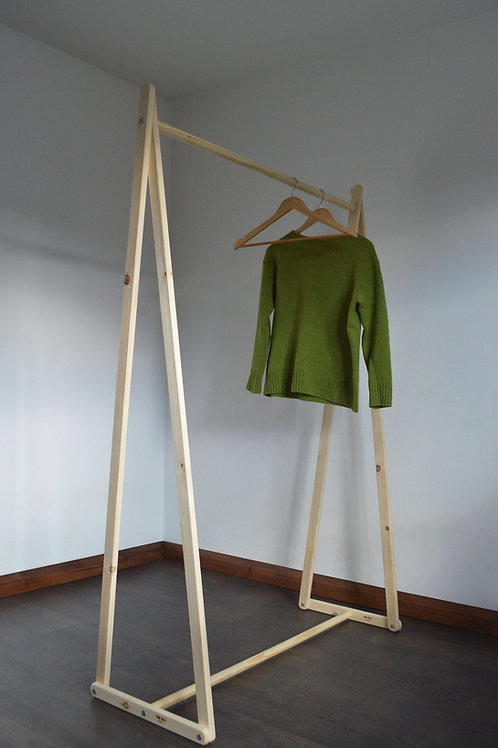 Clothing Rack in Natural Wood