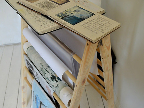 Magazine, Book, Storage Handmade Ladder